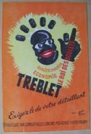 Buvard Treblet Le Roi Des Boulets - Charbon - Combustibles Lemoine Rouen - René Ravo - Buvards, Protège-cahiers Illustrés
