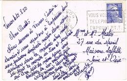 O.MEC SECAP VERNON VOUS VOULEZ LE TELEPHONE SUR CPA - Marcophilie (Lettres)