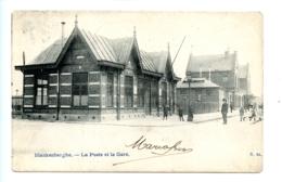 Blankenberghe - La Poste Et La Gare / N. 24 (1905) - Blankenberge