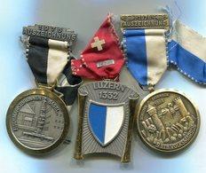 X420 LOT DE 3 MEDAILLES DE MARCHE POPULAIRE SUISSE MEDALS SWITZERLAND - Médailles & Décorations