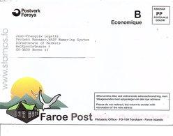 FEROE LETTRE PORT PAYE POUR LA SUISSE - Féroé (Iles)