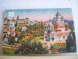 1938 - Francia - Nice  Nizza - La Cathedrale Russe Inauguree En Decembre 1912 (M. Stoeklin - Architecte) - Parc Imperial - Chiese E Conventi