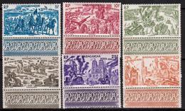 Madagascar - Colonie Française - Poste Aérienne 1946 - N° 66 à 71 - 6 Timbres Neufs - Poste Aérienne