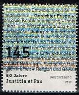 Bund 2017, Michel# 3339 O 50 Jahre Justitia Et Pax - BRD