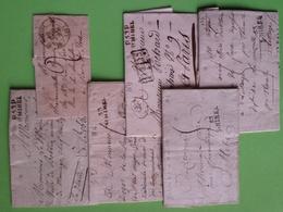Marques Postale De Saint-Mihiel, Meuse, 6 Lettres Entre 1798 Et 1831 - Marcophilie (Lettres)