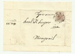 FRANCOBOLLO 6 KREUZER LIENZ  1857 BUONI MARGINI  SU FRONTESPIZIO - 1850-1918 Imperium