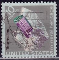 United States, 1974, Mineral - Tourmaline, 10c, Sc#1539, Used - United States