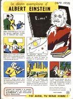 Buvard Le Destin Exemplaire D'Albert Einstein (1879-1955) - Buvards, Protège-cahiers Illustrés