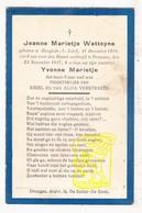 DP 2 Knd - Oorlogsslachtoffers WO I ? Jeanne & Yvonne Marietje Watteyne / Verstraete ° St-Jozef Hooglede † Drongen Gent - Images Religieuses