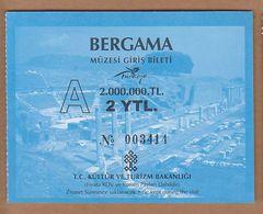 AC - BERGAMA MUSEUM ENTRANCE TICKET TURKEY - Tickets D'entrée