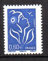 Col12 France  Variété  Marianne Lamouche  N° 3966 / 3959 Papier Neutre Aux UV  Neuf XX MNH Luxe - Variétés Et Curiosités