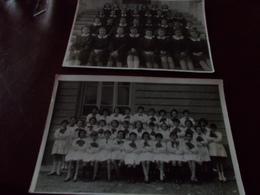 B716  2 Foto Alunni-scolari Valperga E Domossola Cm17x11.5 E 18x11,5 Presenza Di Alcune Pieghe - Photographie