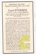 DP Camiel Wyckhuys ° Ruiselede 1868 † 1938 X Marie V. DeSutter - Images Religieuses