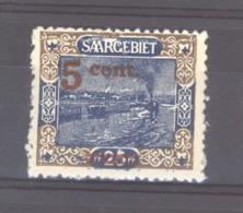 Sarre  :  Mi  71 **    , Variété: Trait Blanc Sur Le R De Saargebiet - 1920-35 Société Des Nations