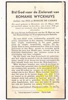 DP Romanie Wyckhuys / De Caigny ° Ruiselede 1865 † 1938 - Images Religieuses