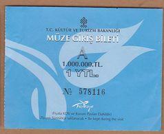 AC - MUSEUM ENTRANCE TICKET TURKEY - Tickets D'entrée