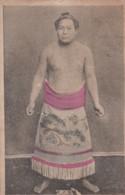 Sumo Wrestling, Japan Sports, Wrestler In Traditional Fashion Ceremonial Portrait, C1910s Vintage Postcard - Wrestling