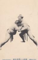 Sumo Wrestling, Japan Sports, Wrestler In Traditional Fashion Ceremonial Portrait Action Pose, C1910s Vintage Postcard - Wrestling