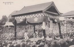 Sumo Wrestling, Japan Sports, Wrestling Match Pavilion, C1910s/30s Vintage Postcard - Wrestling