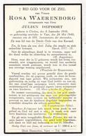 DP Rosa Waerenborg ° Klerken Houthulst 1910 † Ieper 1940 X Julien Defoort - Images Religieuses