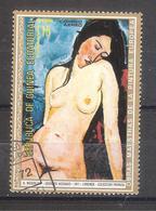 Guinea Ecuatorial 1972-Modigliani - Desnudo Acodado-1 Sello Usado - Guinea Ecuatorial