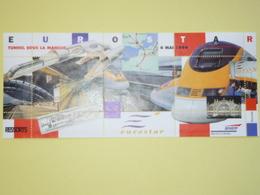 Plaquette SNCF Du 6 Mai 1994 EUROSTAR Et Tunnel Sous La Manche - Acrylic Resins