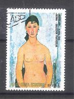 Guinea Ecuatorial 1972-Modigliani, Elvira 1919 -1 Sello Usado - Guinea Ecuatorial