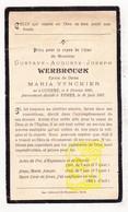 DP Gustave Aug. Werbrouck ° Kuurne 1850 † Ieper 1907 X Maria Vynckier - Andachtsbilder
