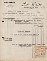 FACTURE RENE CONTAT - FABRIQUE DE BONNETERIE - ORIGNY LE SEC (AUBE) 27 JUILLET 1946 - 1900 – 1949