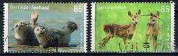 Bund 2018, Michel# 3352 - 3353 O Tierkinder: Reh Und Seehund - BRD
