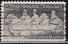 United States, 1970, Stone Mountain Confederate Memorial, 6c, Sc#1408, Used - United States