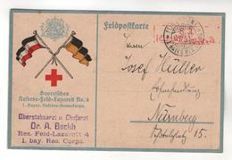 +522, Feldpost,  Bayrisches Reserve-Feld-Lazarett No.4, Oberstabsarzt U. Chefarzt - Guerre 1914-18