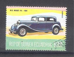 Guinea Ecuatorial 1977-Coches Antiguos MG MIdget Pa-1 Sello Usado - Guinea Ecuatorial