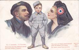 """Guerre 14-18 - Patriotique """" Désormais Les Fils D'Alsace Seront Tous..."""" Illustration Solomko - Guerra 1914-18"""