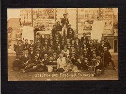Belgique / Fayt Lez Manage / Election 1912 / Attention ! Photographie Carte Postale (fond Neudin) - Manage
