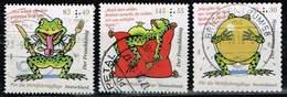 Bund 2018, Michel# 3358 + 3359 + 3364 O Der Froschkönig - BRD