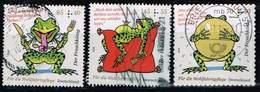 Bund 2018, Michel# 3358 + 3359 + 3364 O Der Froschkönig - [7] Federal Republic