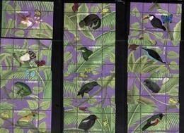 SURINAME, 2018, MNH,NATURE, BIRDS, FROGS, MONKEYS, BUTTERFLIES, FLOWERS, 12 S/SHEETS - Birds