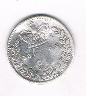 3 PENCE 1843  GROOT BRITANNIE /1508// - 1816-1901 : Frappes XIX° S.