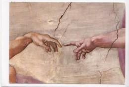 CITTA' DEL VATICANO, Cappella Sistina, La Creazione Dell'uomo, Particolare, 1975 Used Postcard [22905] - Vatican