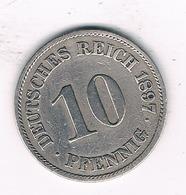 10 PFENNIG  1897 A   DUITSLAND /1511/ - [ 2] 1871-1918 : Empire Allemand