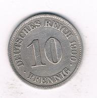 10 PFENNIG  1900 A   DUITSLAND /1512/ - [ 2] 1871-1918 : Empire Allemand