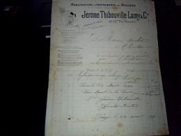 Facture MANUFACTURE D INSTRUMENTS DE MUSIQUE JEROME THIBOUVILLE LAMY A RÈAUMUR ANNÈE 1899 - France