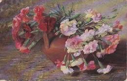 AK Krug Mit Nelken - Künstlerkarte Giesler - Aus Floras Garten  (39665) - Blumen