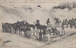 Militaria - Manoeuvres Artillerie - Attelages Canons - Rassemblement Après Descente - Manoeuvres