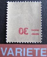 R1947/11 - 1940 - TYPE SEMEUSE  - N°476 NEUF** BON CENTRAGE - VARIETE ➤➤➤ Surcharge Recto-verso - Errors & Oddities