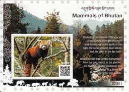 BHUTAN 2019 HIMALAYAN RED PANDA- MINIATURE SHEET-  BHUTAN QR CODED STAMPS - Roter Panda- Ailurus Fulgens - Bhutan