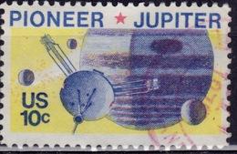 United States, 1975, Space Issue, Pioneer/Jupiter, 10c, Sc#1556, Used - United States