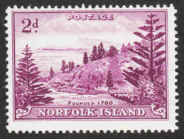 Norfolk Island - S/G #4a MH - White Paper - Scott #4 - Norfolk Island