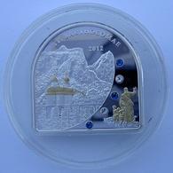 COOK ISLANDS 5 $ 2012 ARGENTO PROOF 999 SILVER+GOLD+SWAROVSKI SAINT BARTHOLOMAE PESO 25g. TITOLO 0,999 CONSERVAZIONE FON - Isole Cook